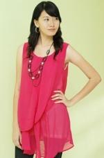 chiffon layer blouse pink