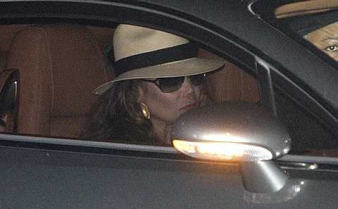 La Toya Jackson, the sister of Michael Jackson, leaves the Forest Lawn Memorial Parks and Mortuaries after attending a family viewing ofMichael Jackson Monday, July 6, 2009 in Los Angeles. - AP - 7 July, 2009