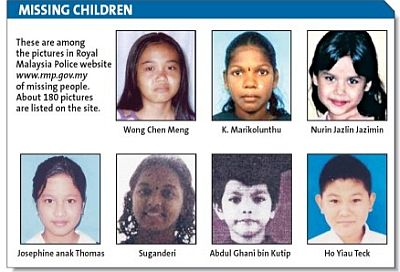 the causes of missing children in malaysia essay Cause and effect papers are among the most common (and among the most fun to write) papers in a composition course it is intriguing to explore the causes of some event that you always took for granted or to chronicle the effects of some phenomenon in society or nature the two strategic points you have to consider are (1) whether you're exploring.